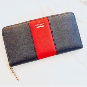 Kate Spade Racing Stripe Leather Wallet NWT